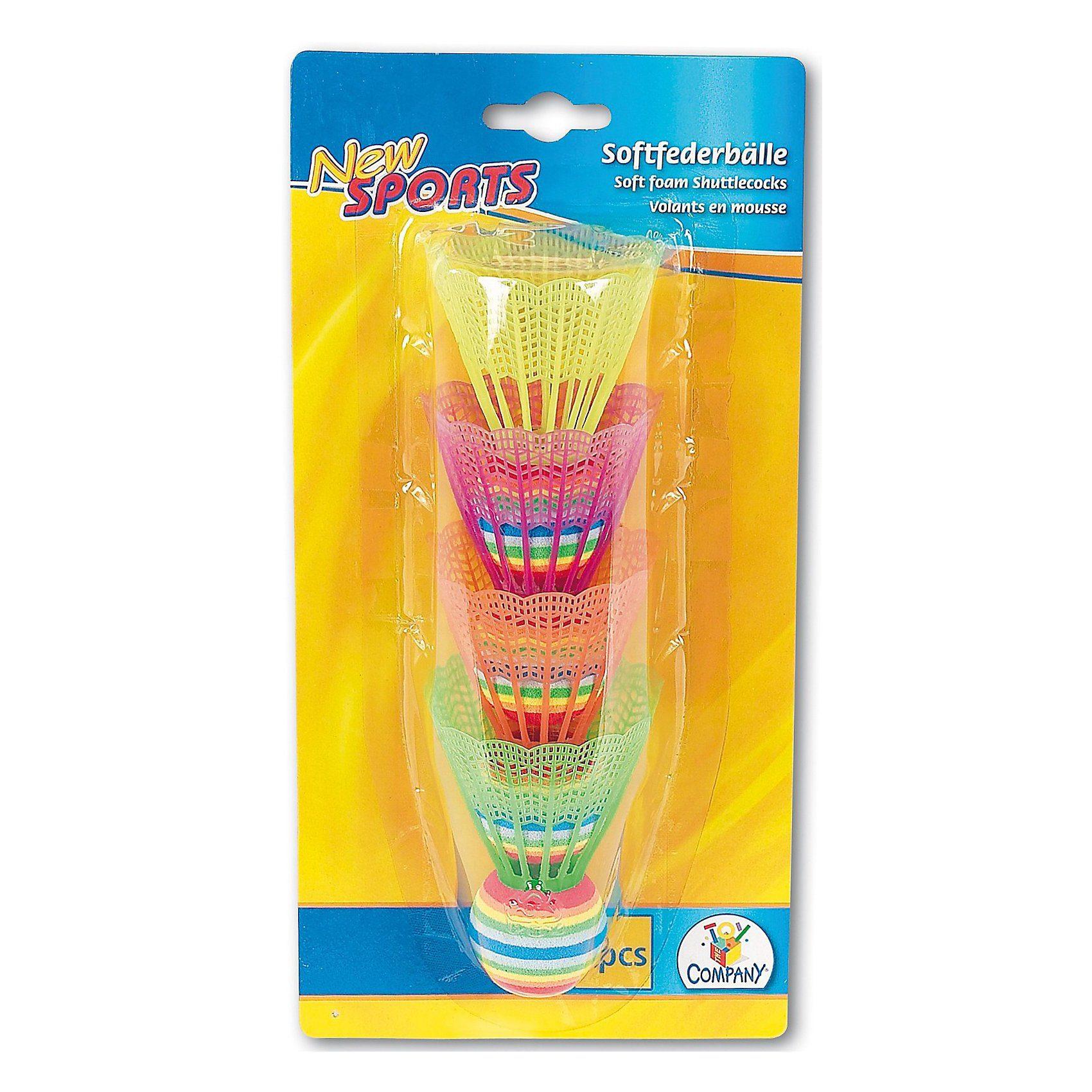 New Sports Softfederbälle, vier Stück
