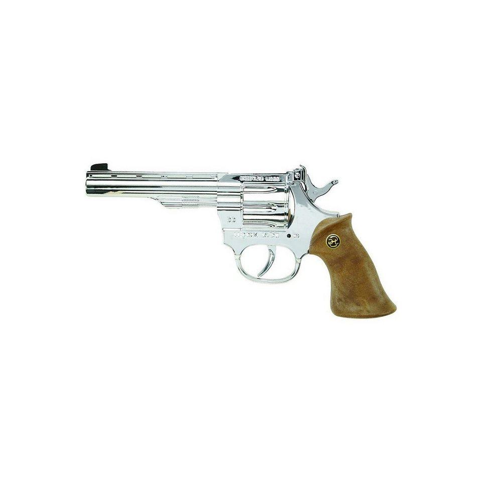 Schrödel Western-Revolver Kadett silber glänzend