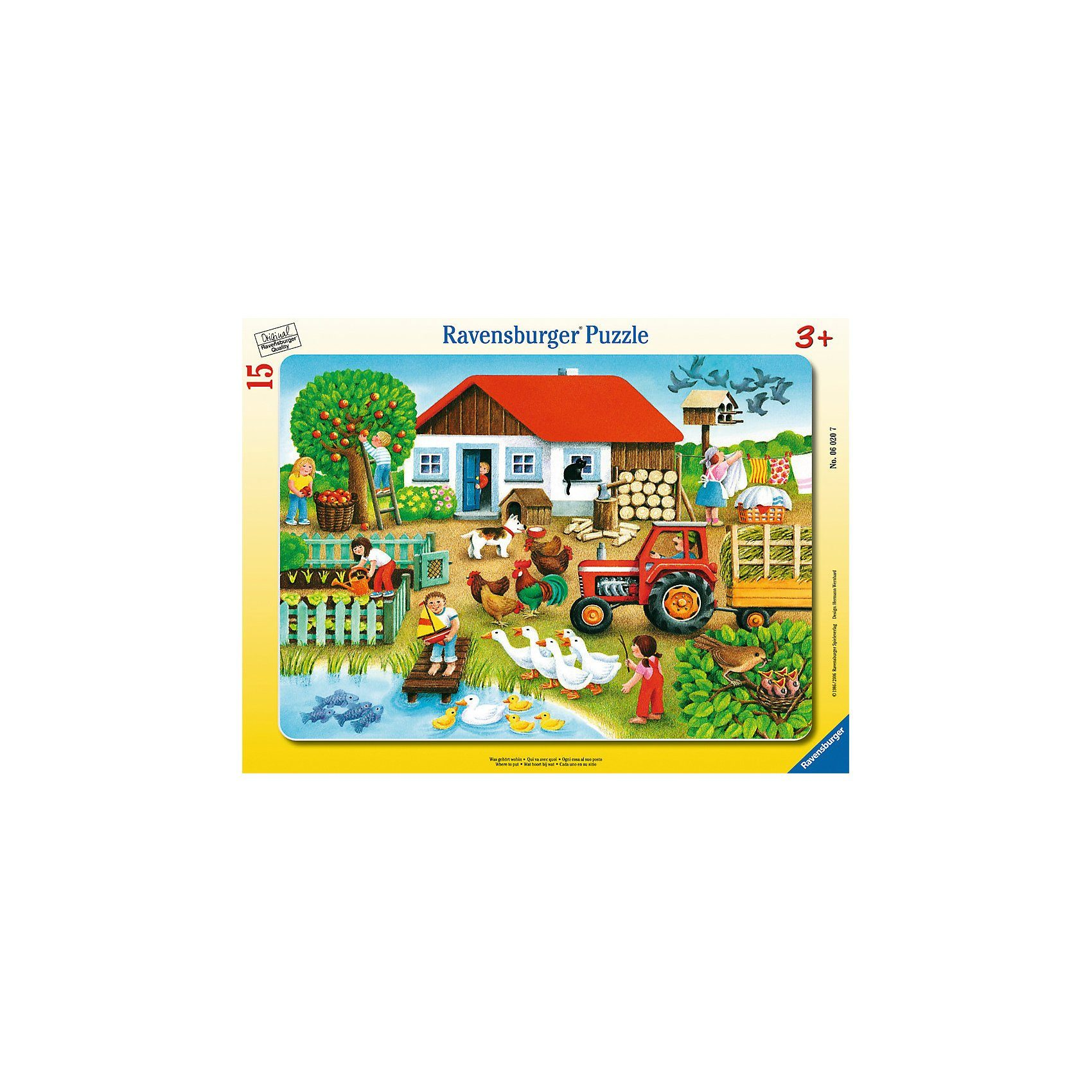Ravensburger Rahmenpuzzle Was gehört wohin? 15 Teile