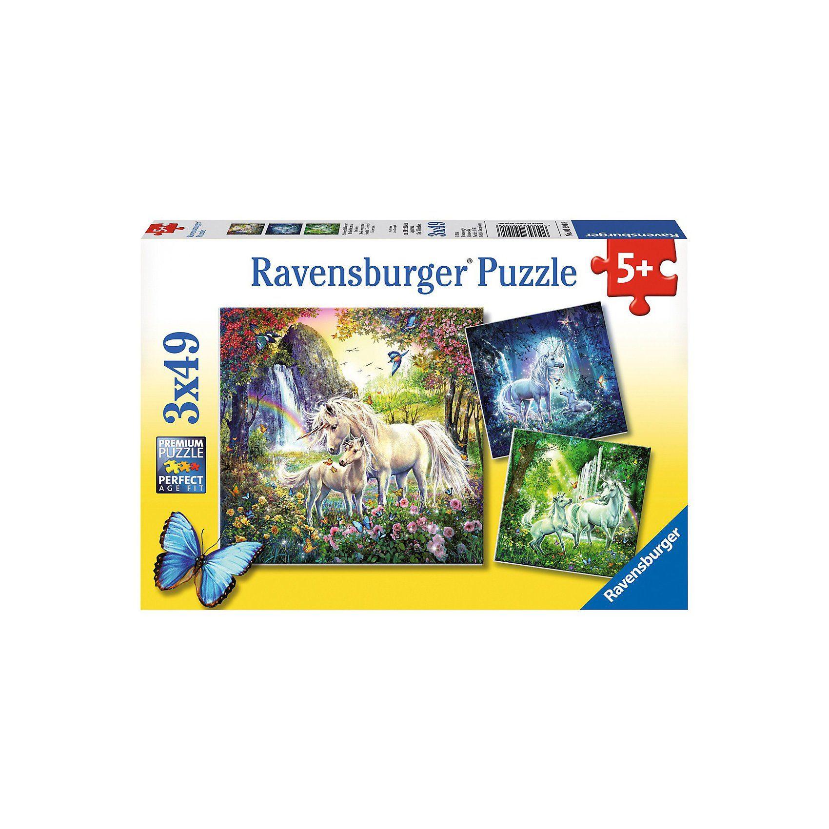 Ravensburger Schöne Einhörner 3 X 49 Teile