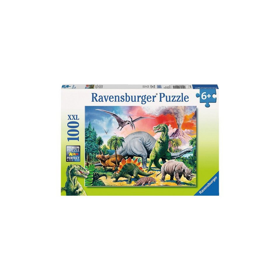 Ravensburger Puzzle XXL- 100 Teile- Unter Dinosauriern