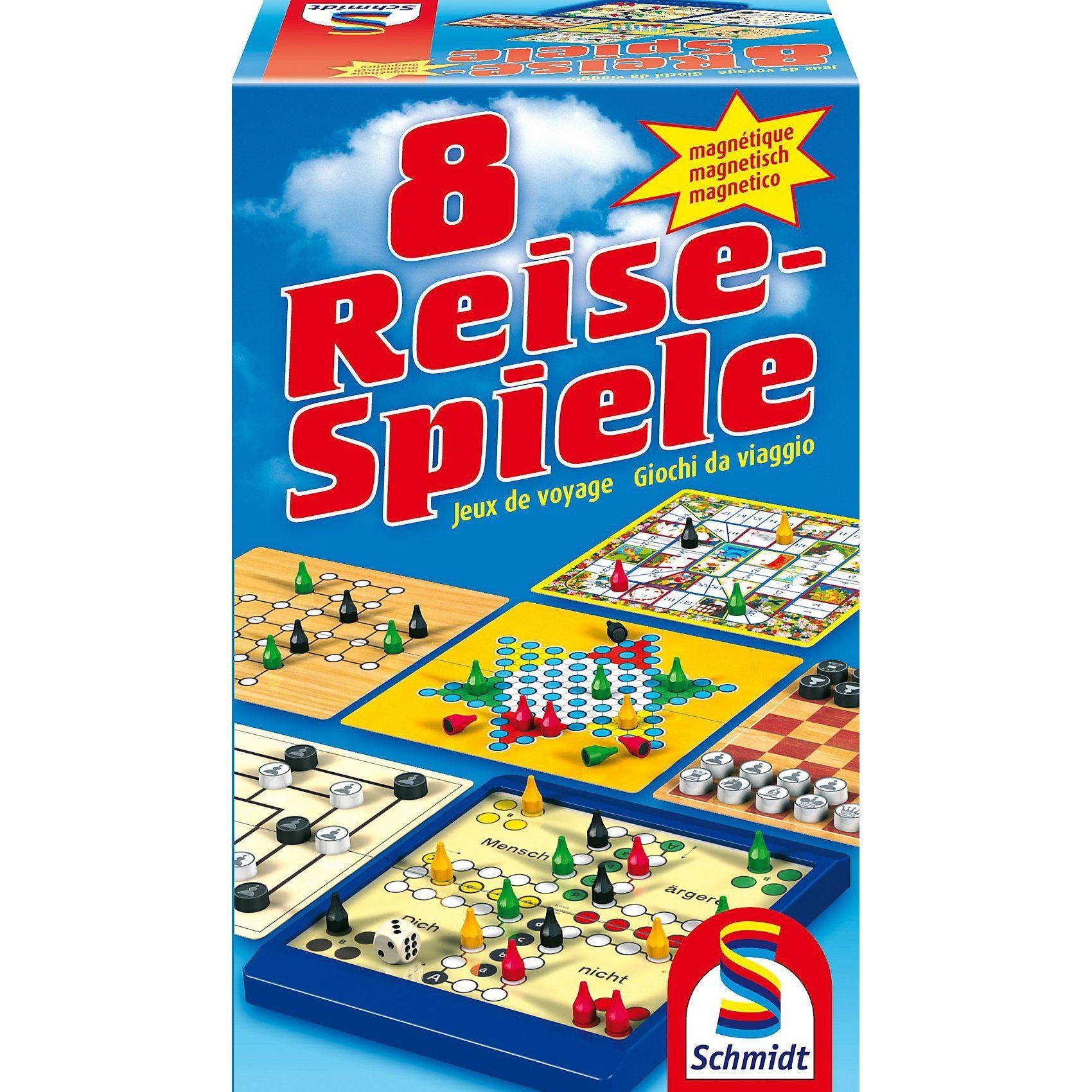 Schmidt Spiele Spielesammlung 8 Reise-Spiele, magnetisch