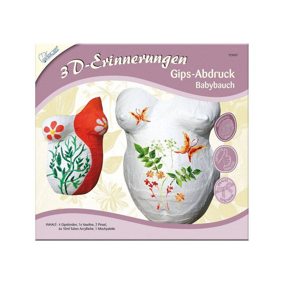 MAMMUT Spiel und Geschenk 3D-Erinnerungen Abdruckset Babybauch, inkl. Farben