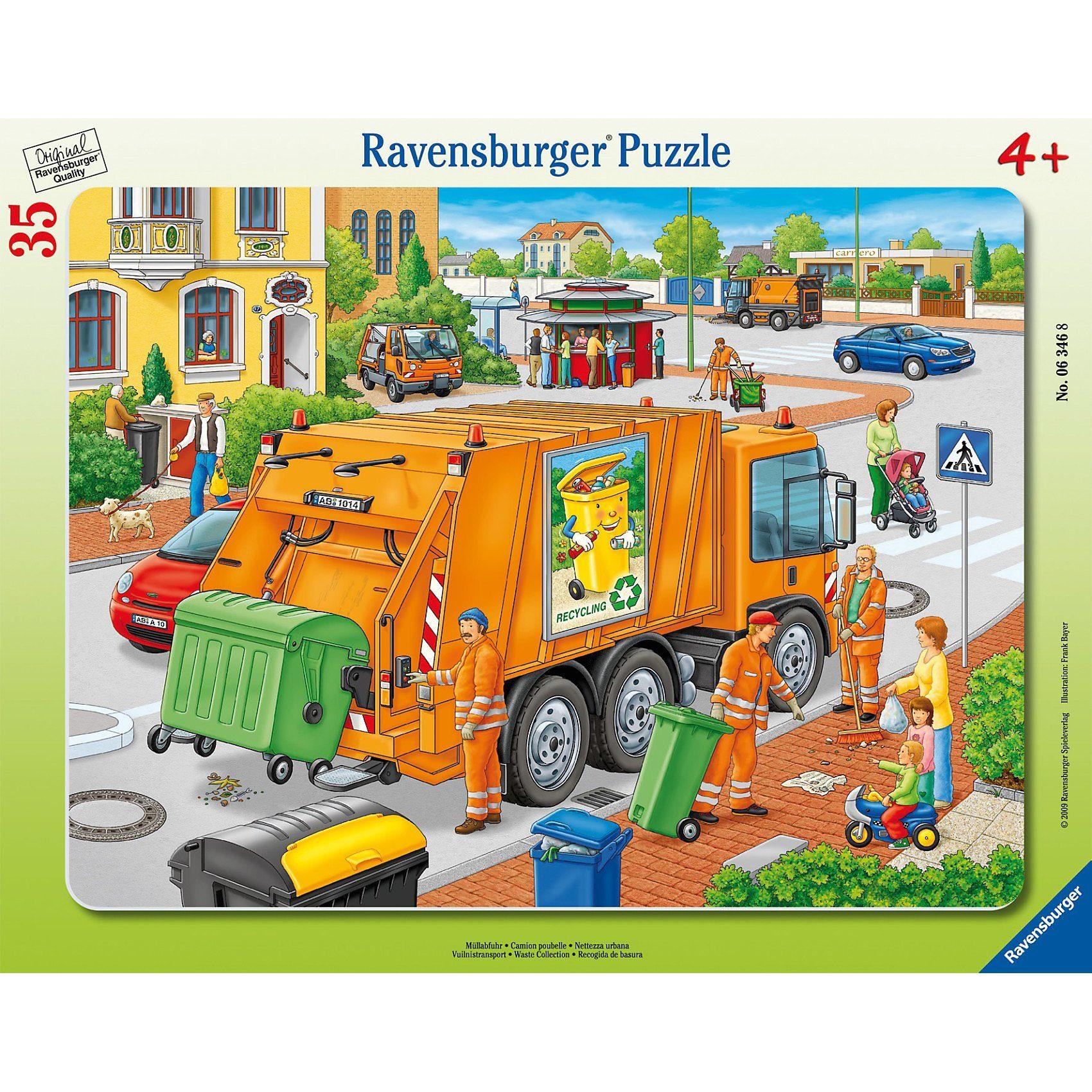 Ravensburger Rahmenpuzzle 35 Teile Müllabfuhr
