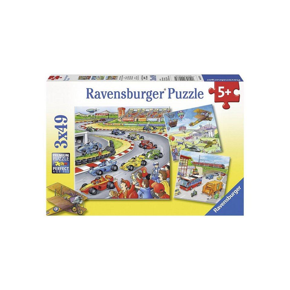 Ravensburger Puzzleset 3 x 49 Teile Alles unterwegs