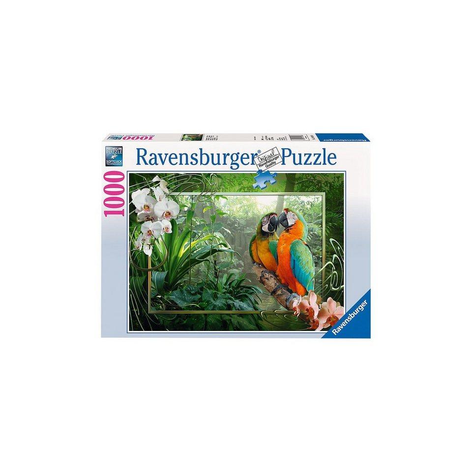 Ravensburger Puzzle 1000 Teile Papageien im Dschungel