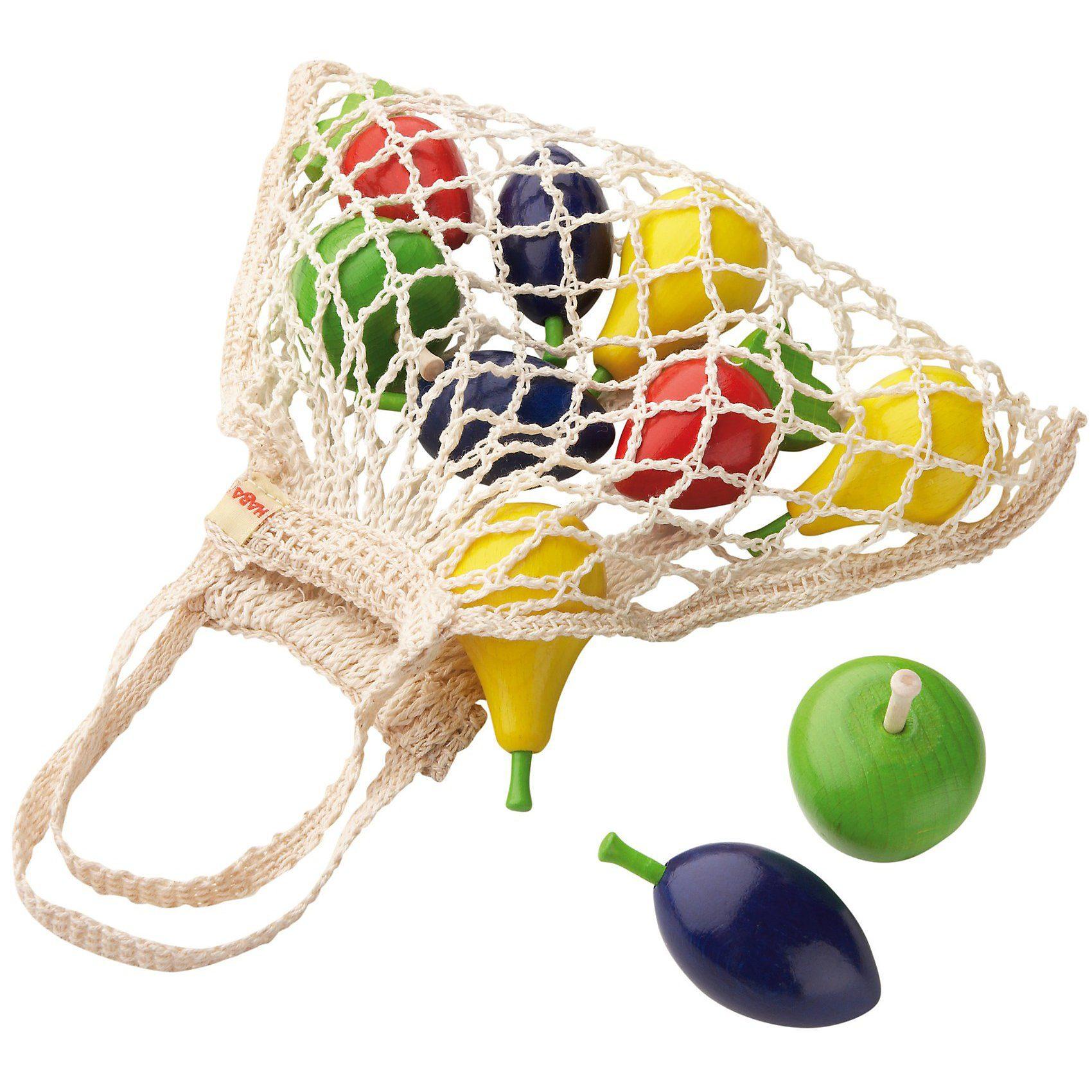 Haba 3842 Einkaufsnetz Obst mit Spiellebensmittel
