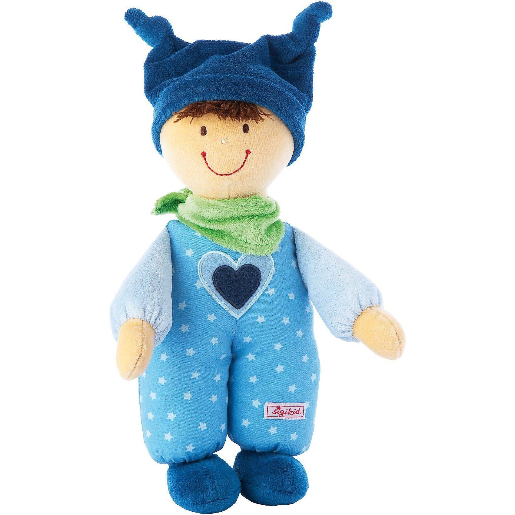 sigikid 49284 Babydolly: Püppchen blau, 24 cm