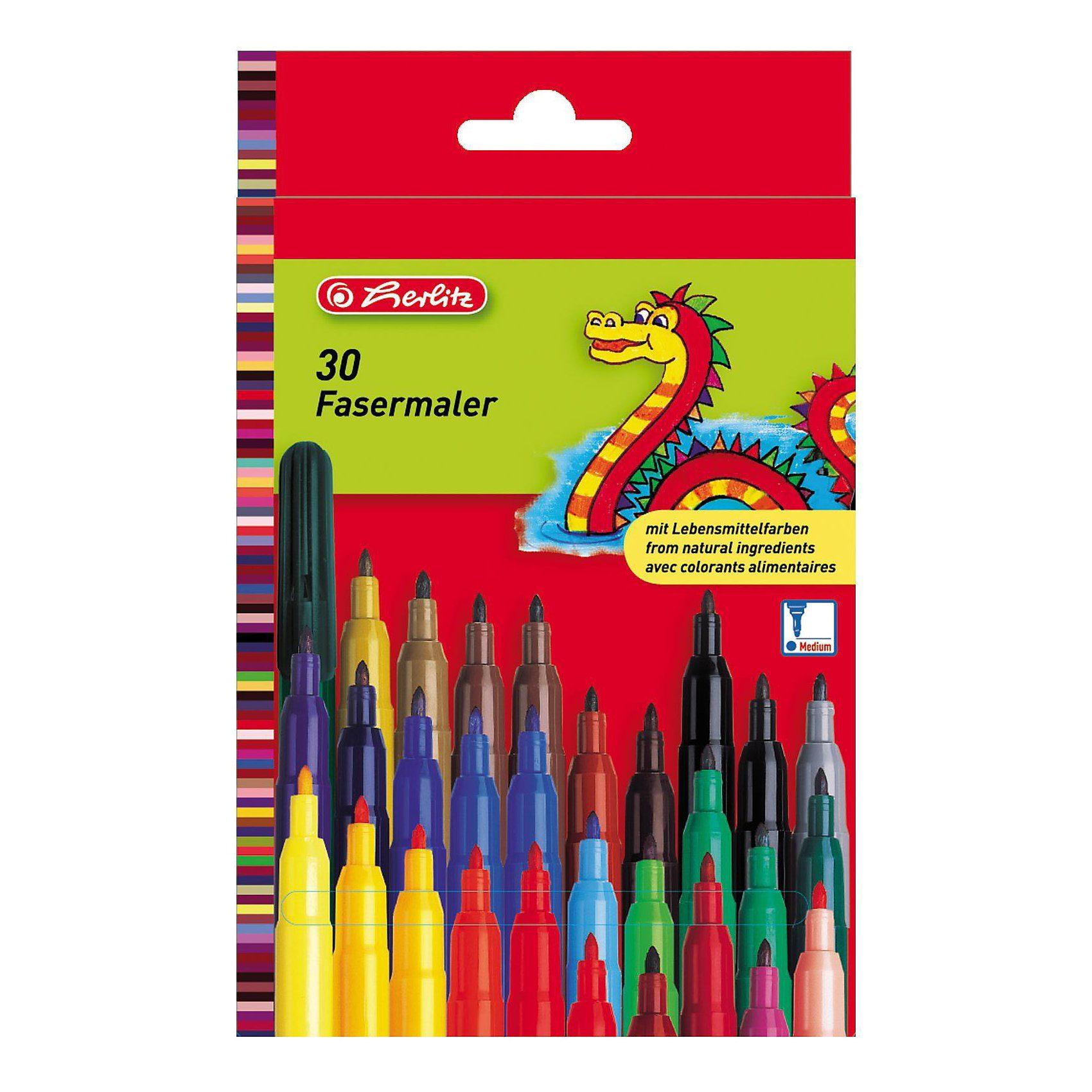 Herlitz Filzstifte, 30 Farben