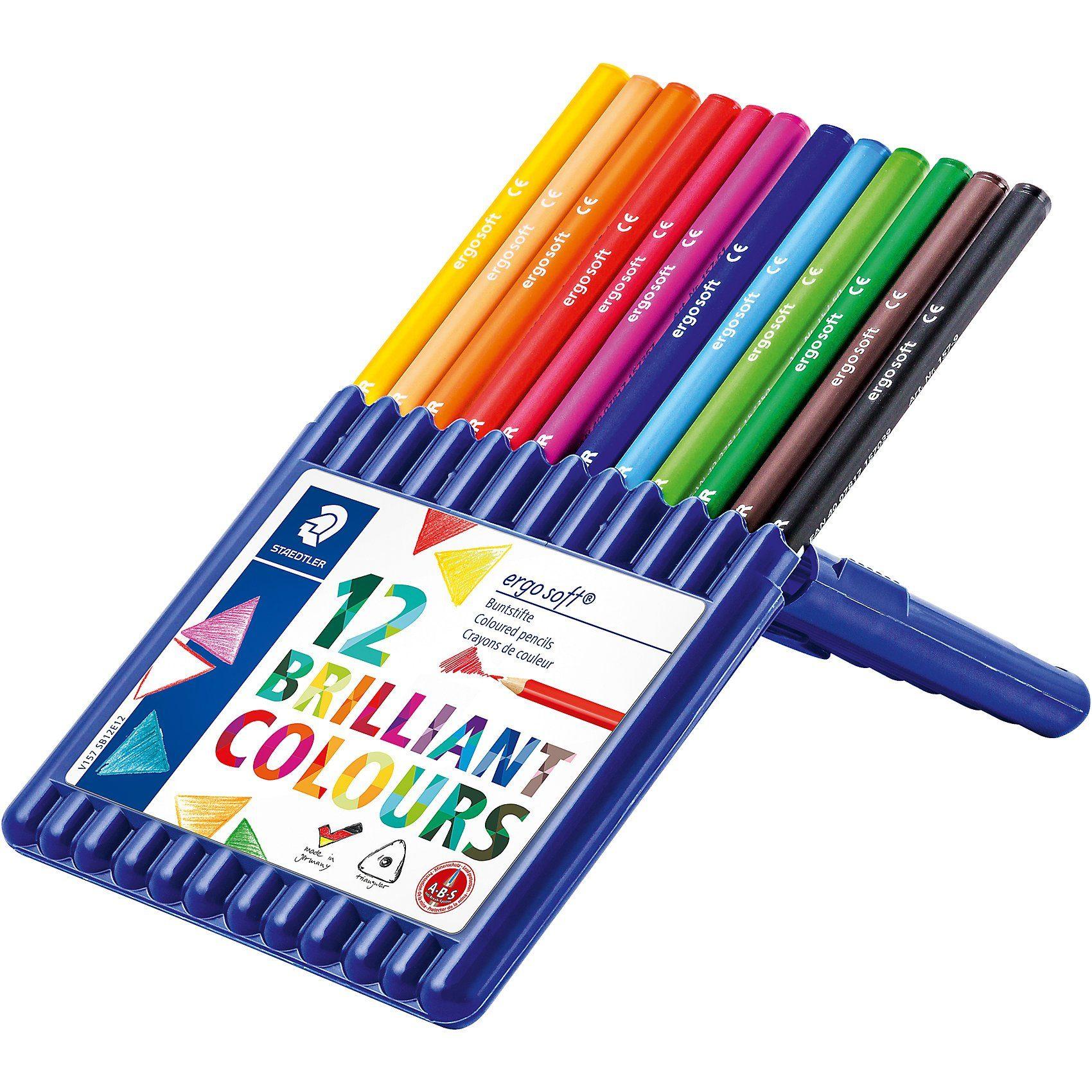 Staedtler Farbstifte ergosoft, 12 Farben in Aufstellbox
