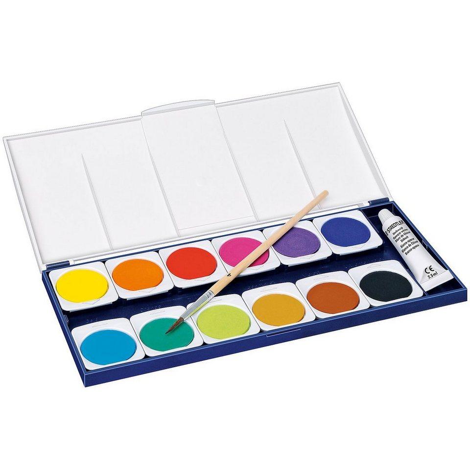 Staedtler NORIS ClubDeckfarbkasten, 12 Farben & Deckweiß