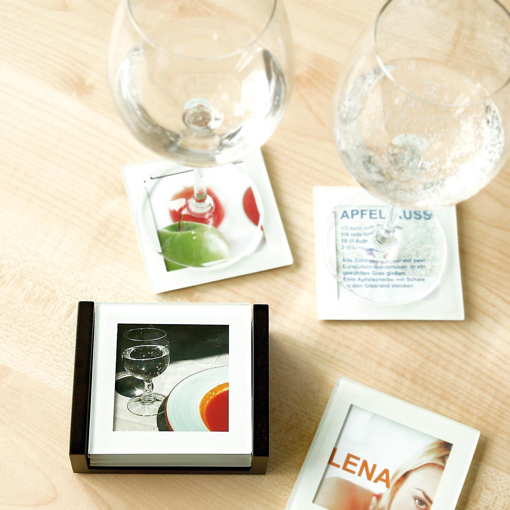 Tawo Foto-Glasuntersetzer, 4 Stück