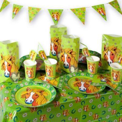 Lutz Mauder Verlag Party-Set Mein Ponyhof, 54-tlg.