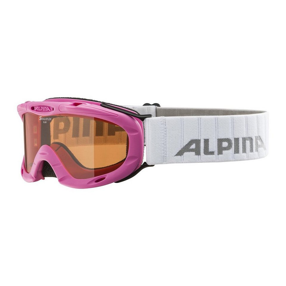 ALPINA Skibrille Ruby S, pink in pink