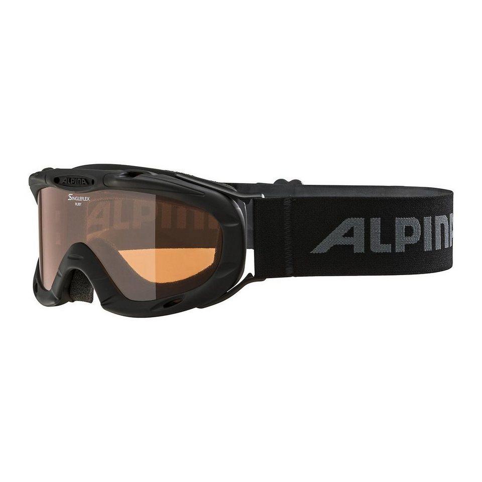 ALPINA Skibrille Ruby S, schwarz in schwarz