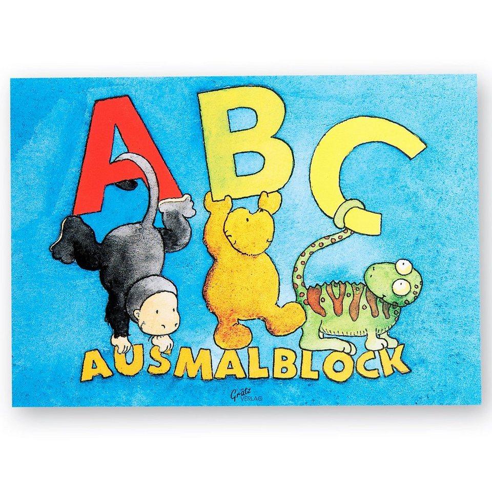 Grätz Verlag Ausmalblock ABC, A5, 13 Blatt