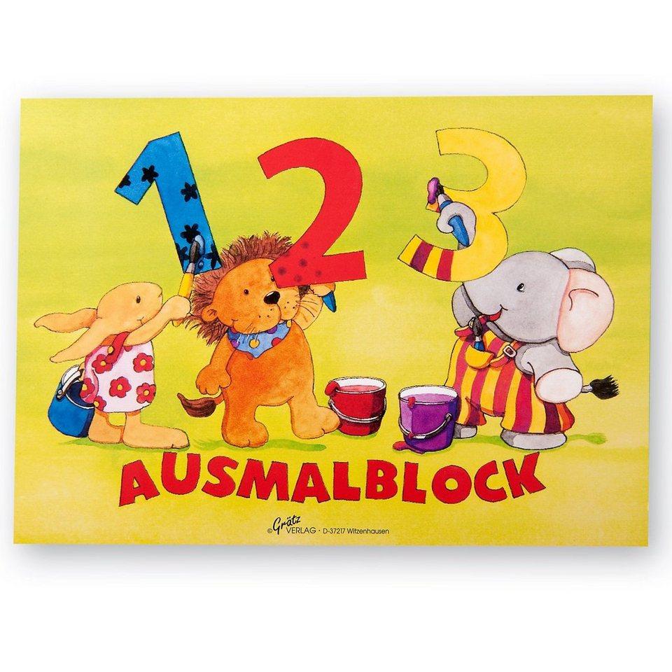 Grätz Verlag Ausmalblock 123, A5, 13 Blatt
