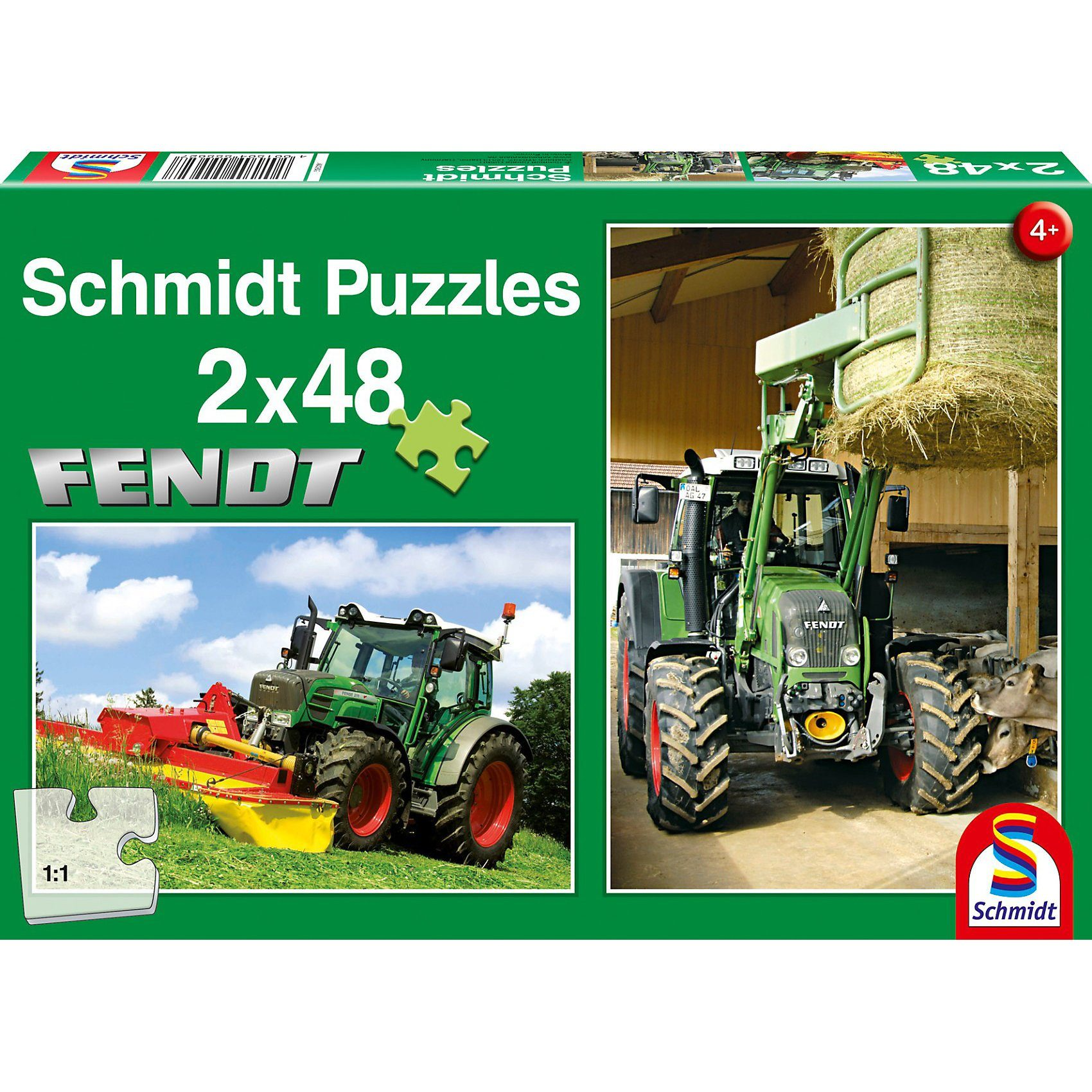 Schmidt Spiele Fendt Traktoren, 2x48 Teile