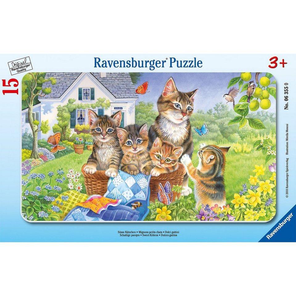 Ravensburger Süße Kätzchen - 15 Teile Rahmenpuzzle