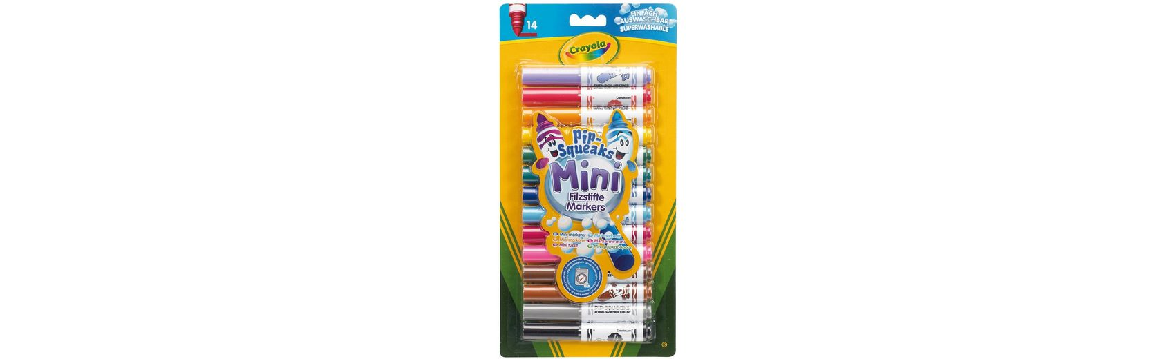 Crayola Mini-Fasermaler, 14 Farben, auswaschbar