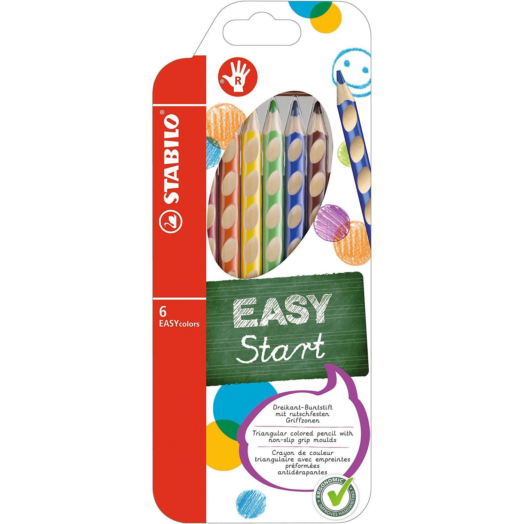 Stabilo Buntstift EASYcolors R, 6 Farben