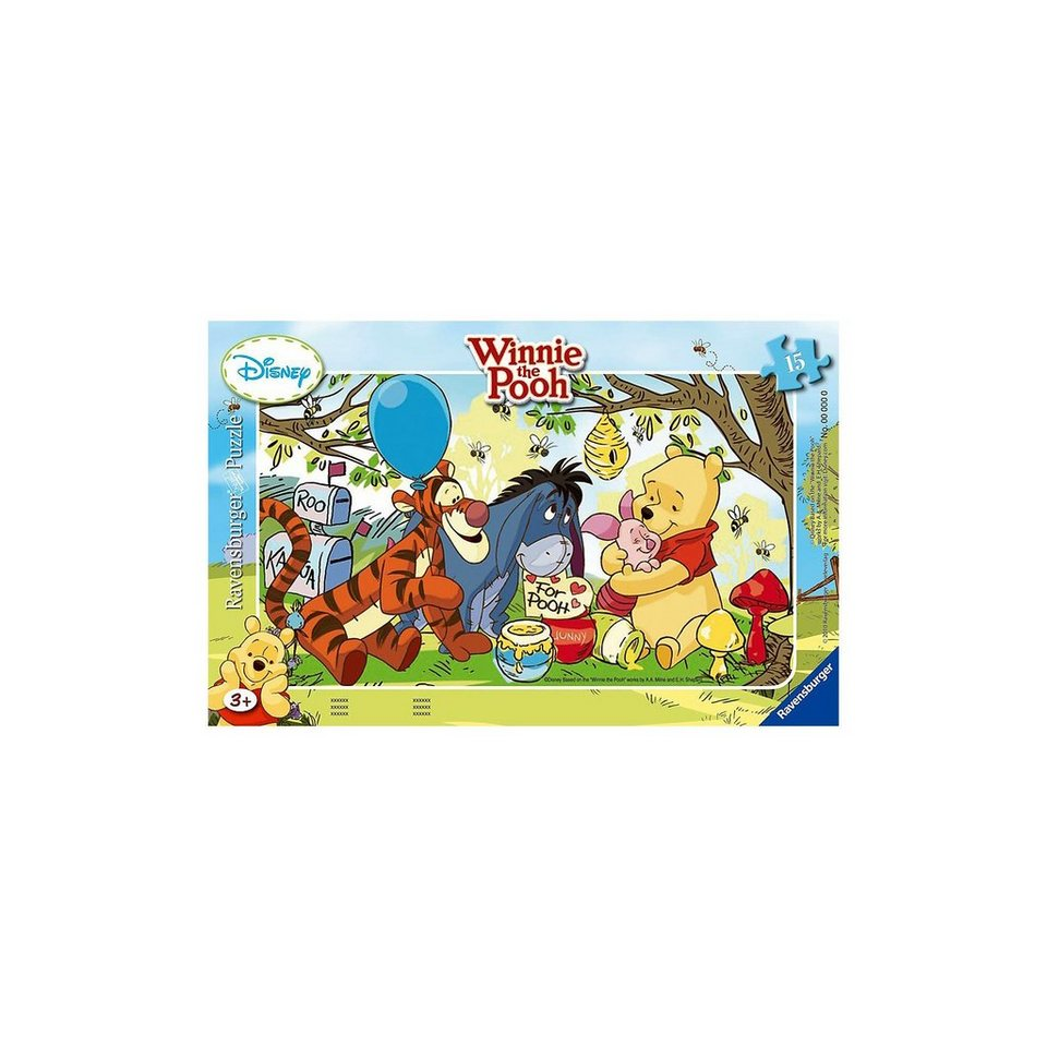 Ravensburger Winnie Pooh Honigparty - 15 Teile Rahmenpuzzle