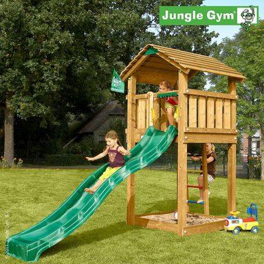 jungle gym spielturm cottage rutsche gr n kaufen otto. Black Bedroom Furniture Sets. Home Design Ideas