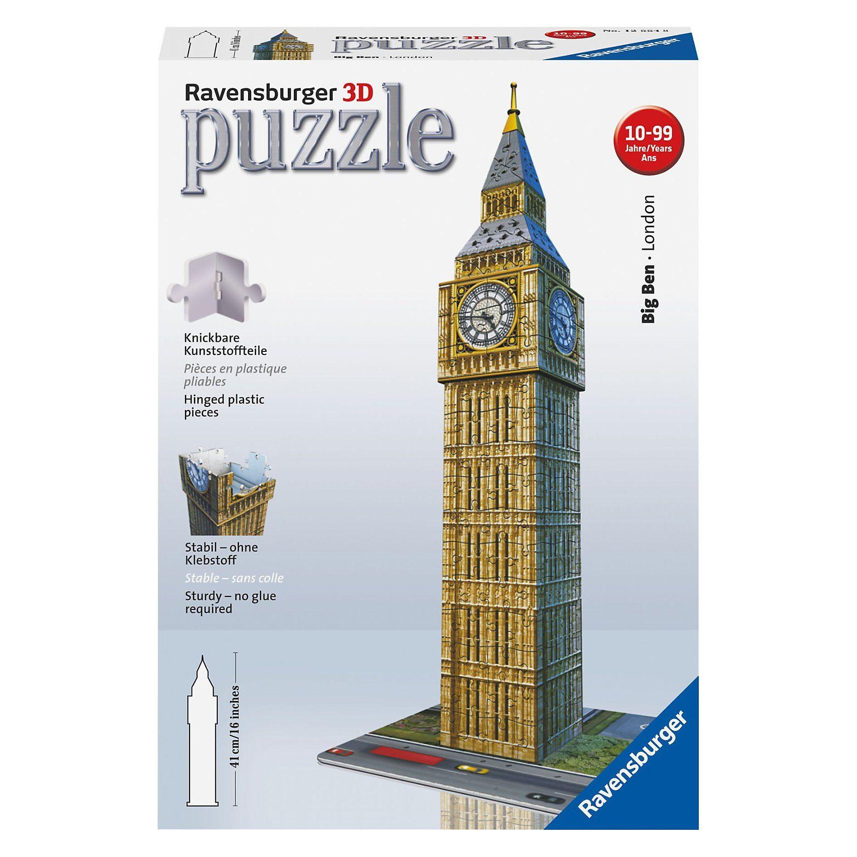 Ravensburger 3D Gebäude Puzzle Big Ben - 216 Teile