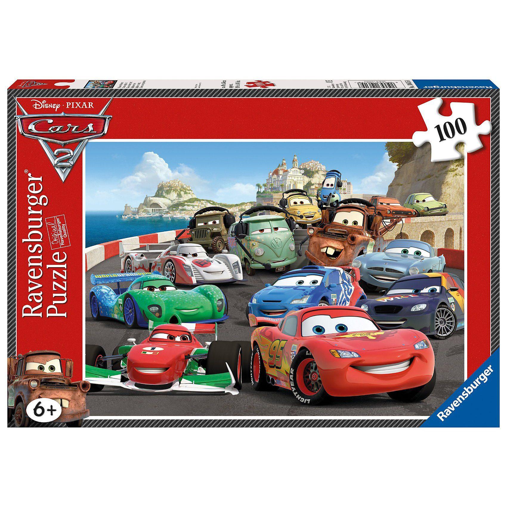 Ravensburger Disney Cars: Brisantes Rennen - 100 Teile XXL Puzzle