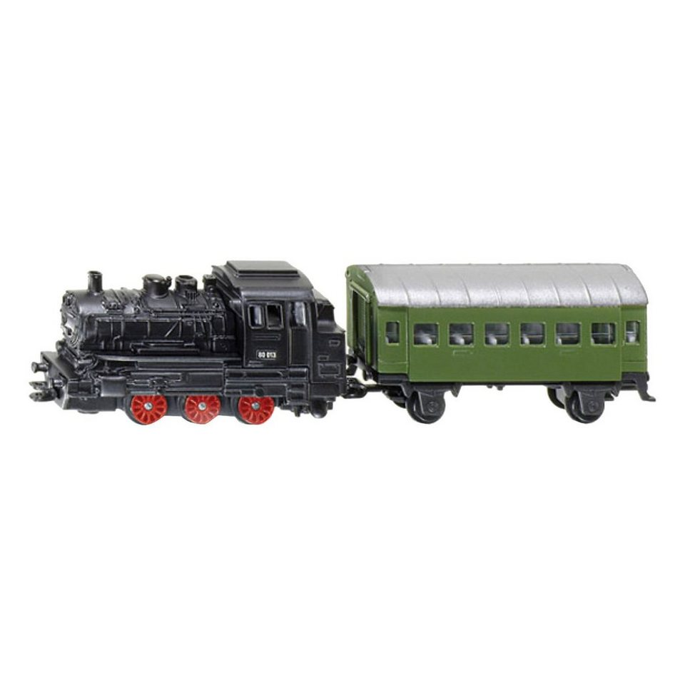 SIKU 1657 Dampflok m. Personenwagen