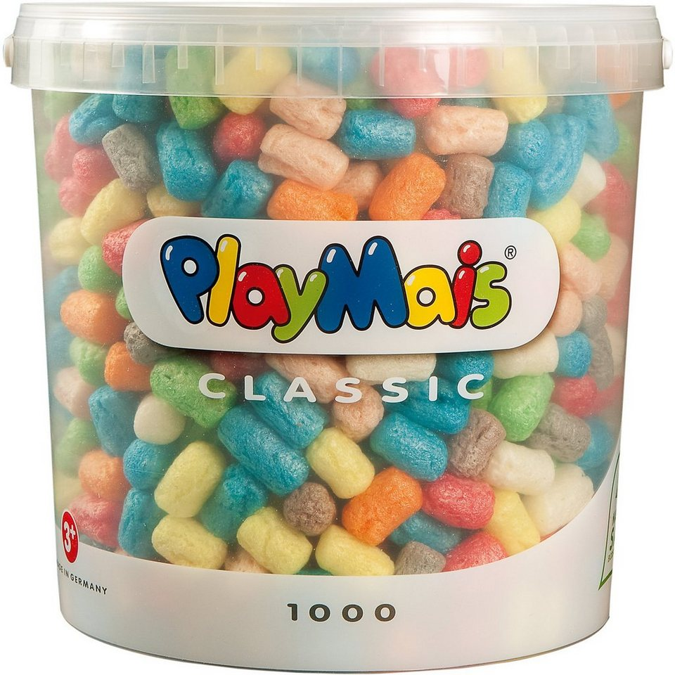 PlayMais BASIC Eimer, 1000 Maisbausteine