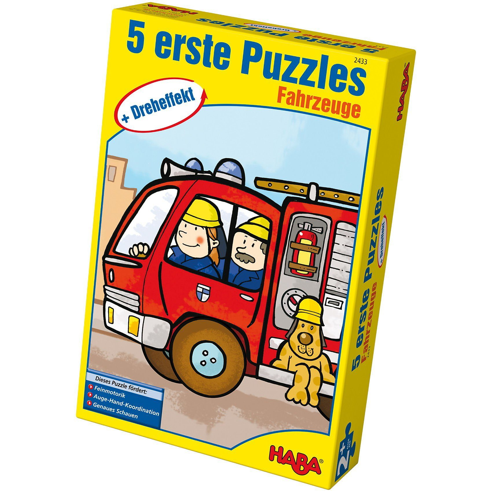 Haba Erste Puzzle Dreheffekt Fahrzeuge