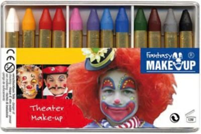 C. KREUL Fantasy Theater Make Up Schminkstifte, 12 Farben
