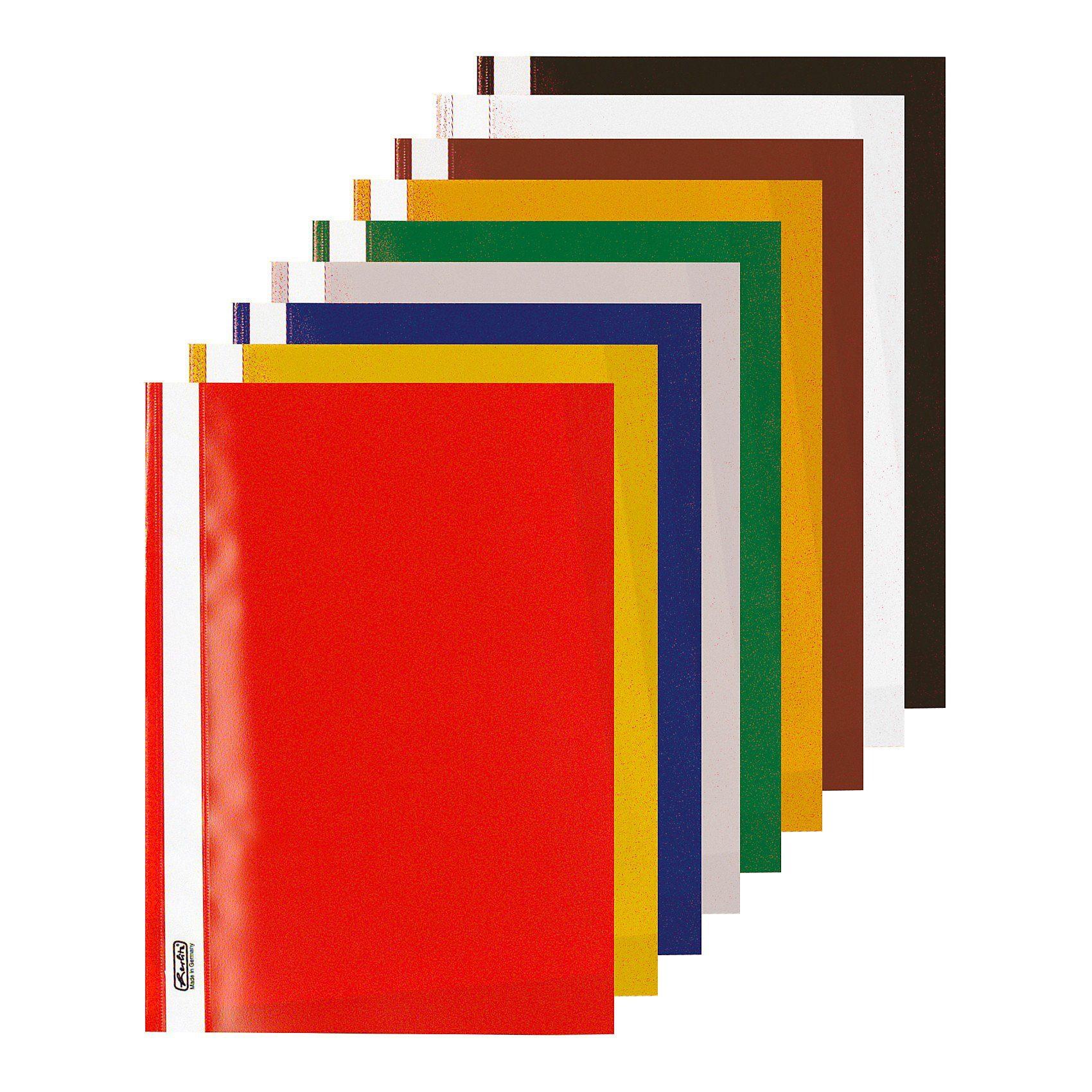 Herlitz Schnellhefter Kunststoff, A4, 2 x 5 Farben, 10 Stück