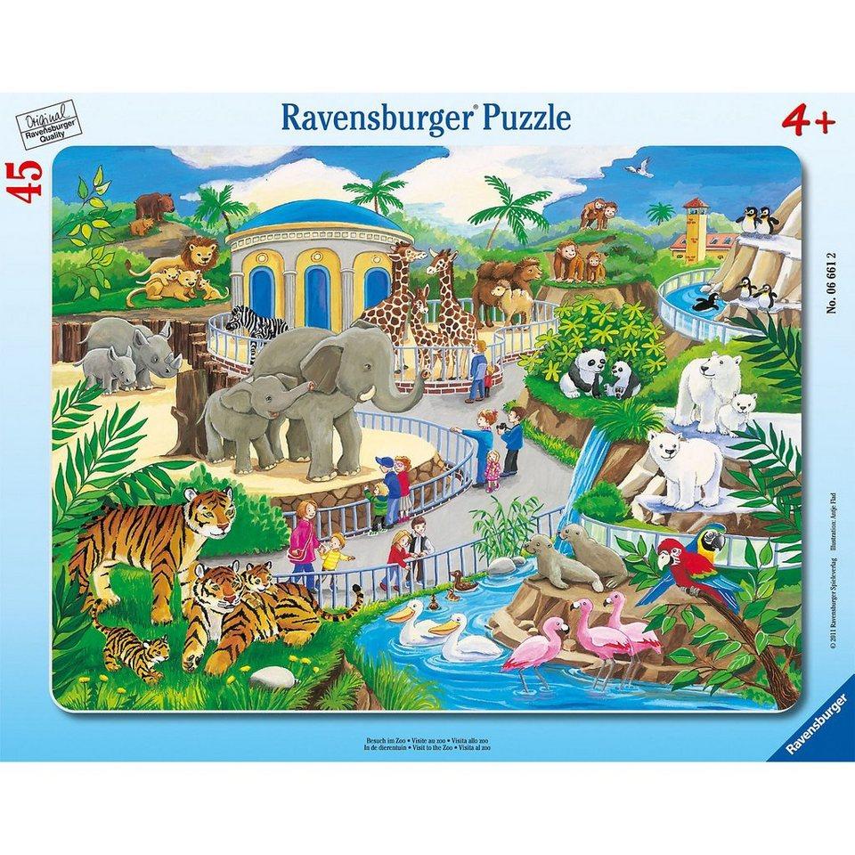 Ravensburger Besuch im Zoo - 45 Teile Rahmenpuzzle