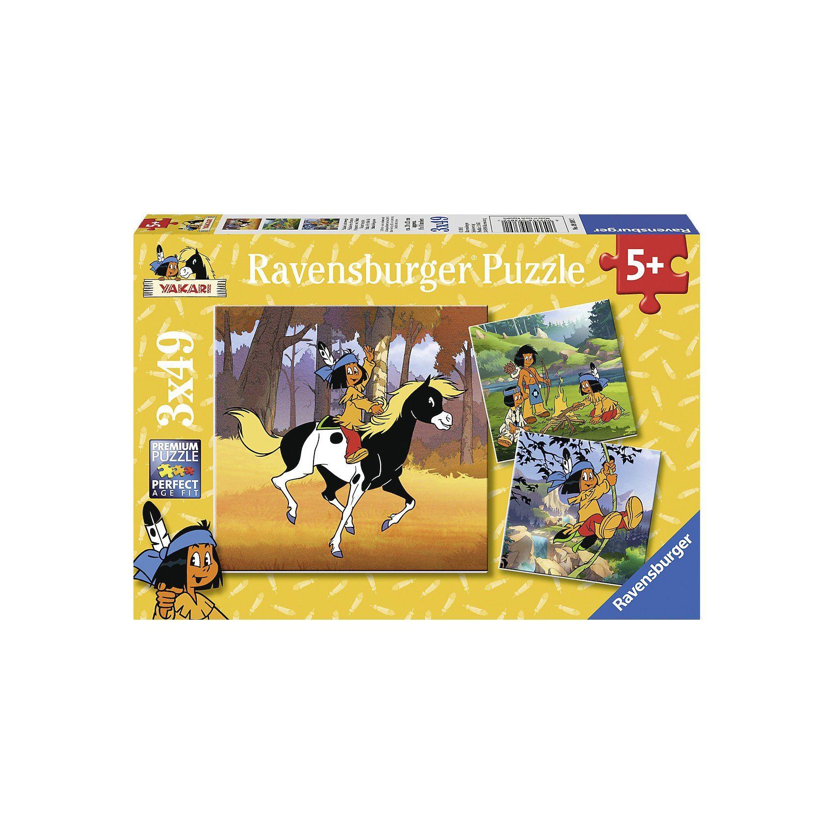 Ravensburger YAKARI: Yakari Unterwegs - 3 x 49 Teile Puzzle