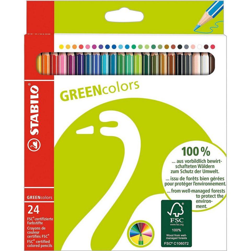 Stabilo GREENcolors Farbstifte, 24 Farben