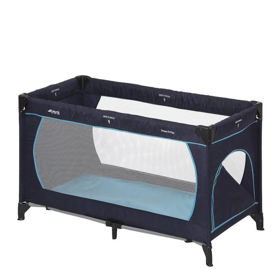 Hauck Reisebett Dream'n Play Plus, navy/aqua in blau