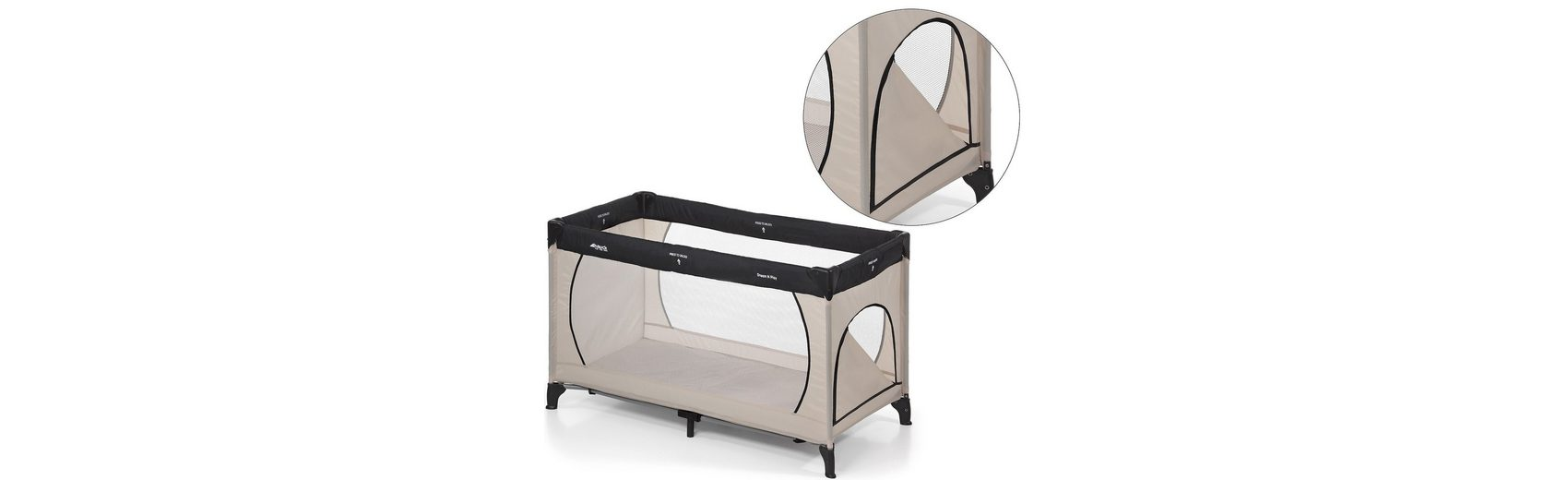 Hauck Reisebett Dream'n Play Plus, beige/grey