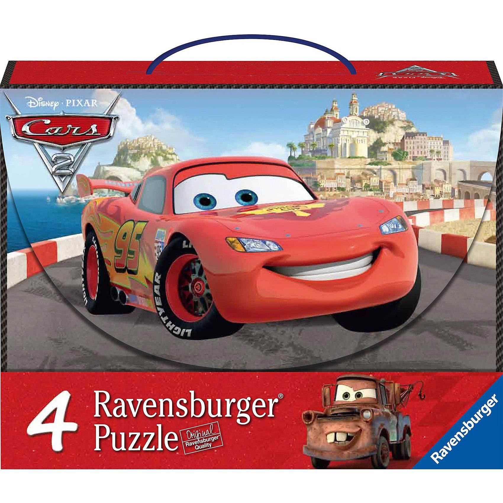 Ravensburger Puzzlekoffer Abenteuer mit Cars - 2x64/2x81 Teile