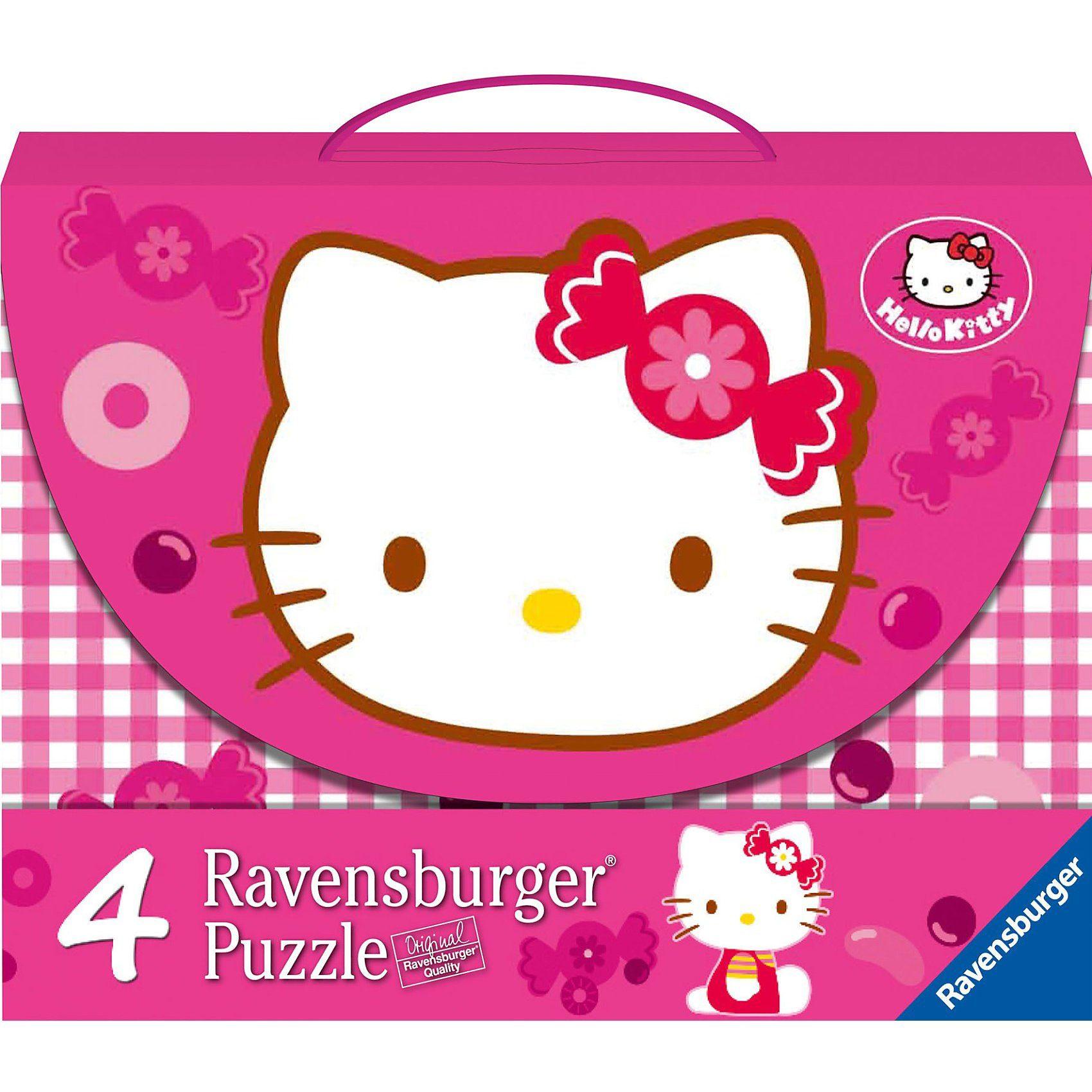 Ravensburger Puzzlekoffer Süße Hello Kitty 2 x 25/2 x 36 Teile