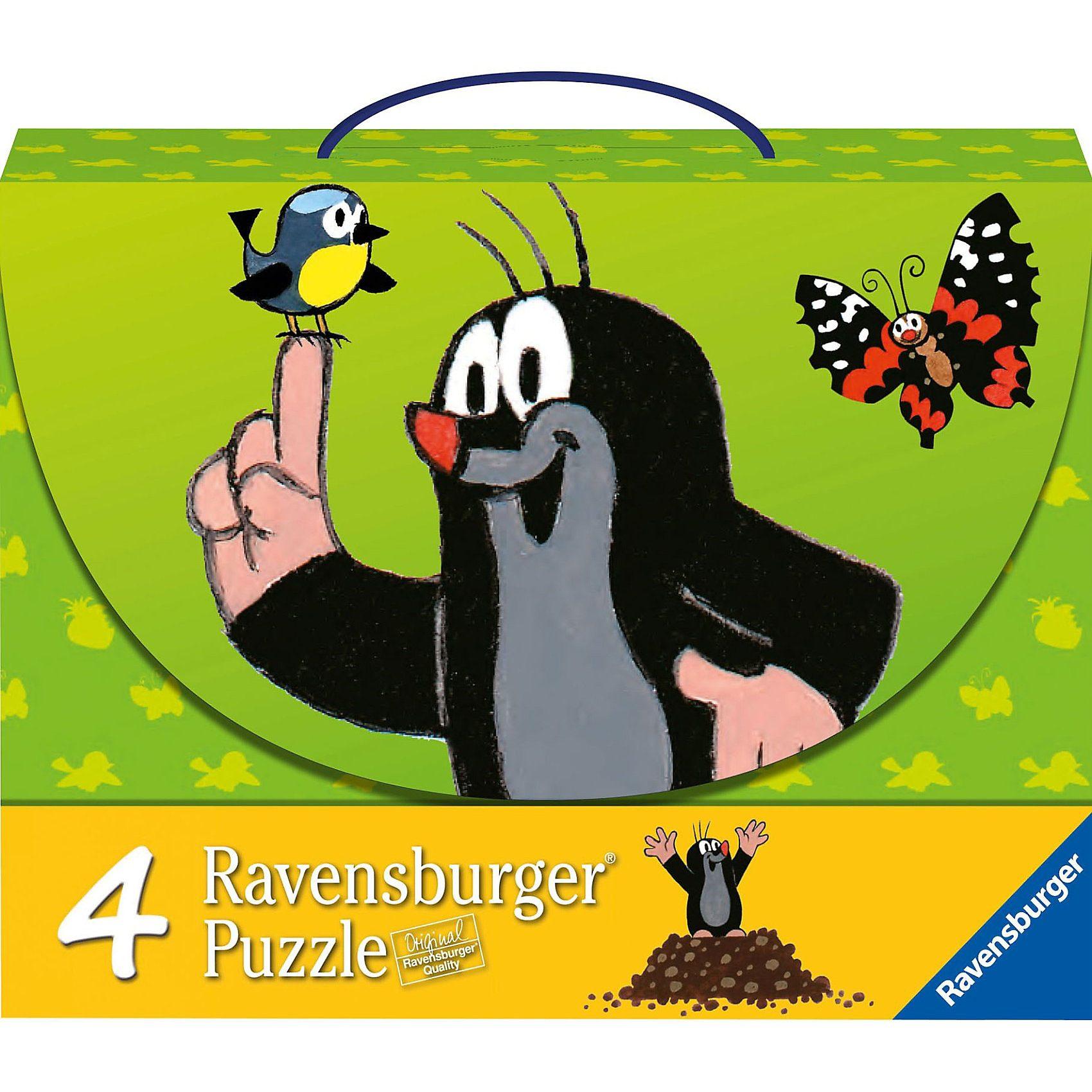 Ravensburger Puzzlekoffer Maulwurf und seine Freunde 2x25/2x36