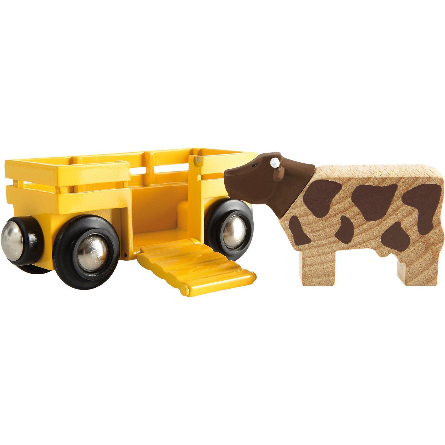 BRIO® Tierwagen mit Kuh