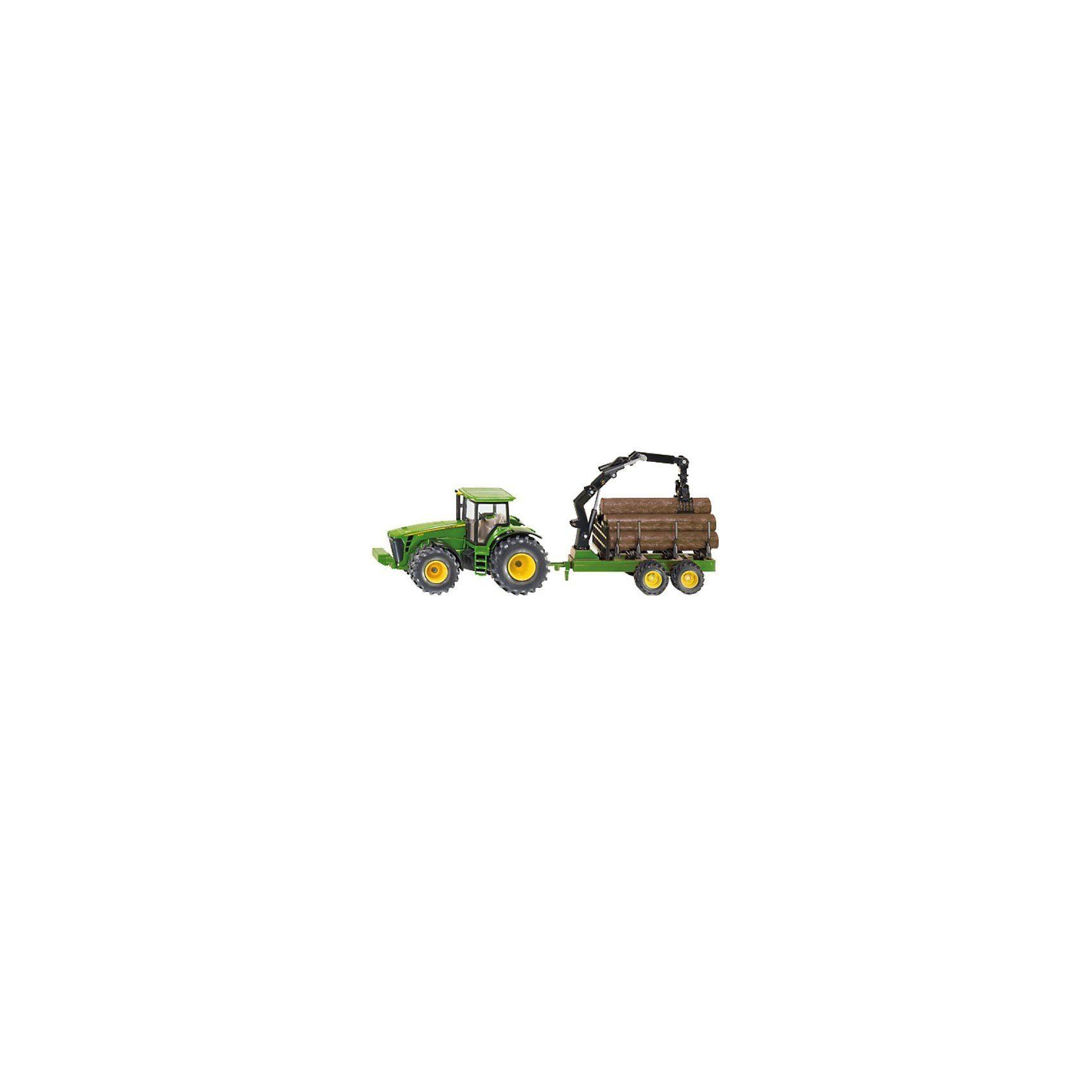 SIKU 1954 Traktor mit Forstanhänger