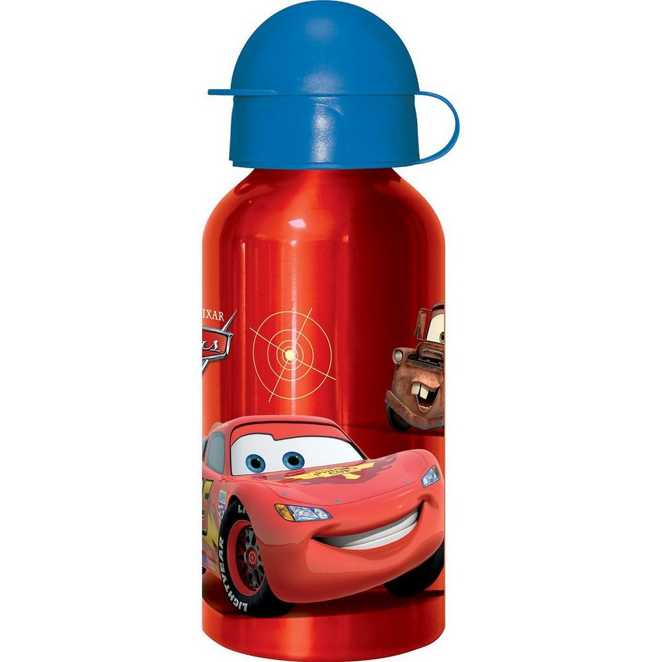 P:OS Alu-Trinkflasche Disney Cars, 400 ml in rot