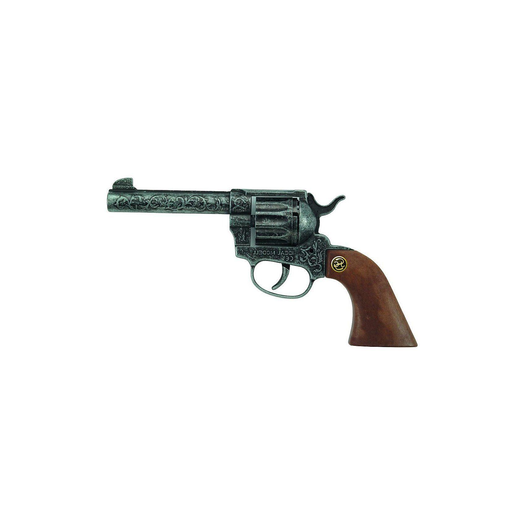 Schrödel Western-Revolver Magnum antik-silber