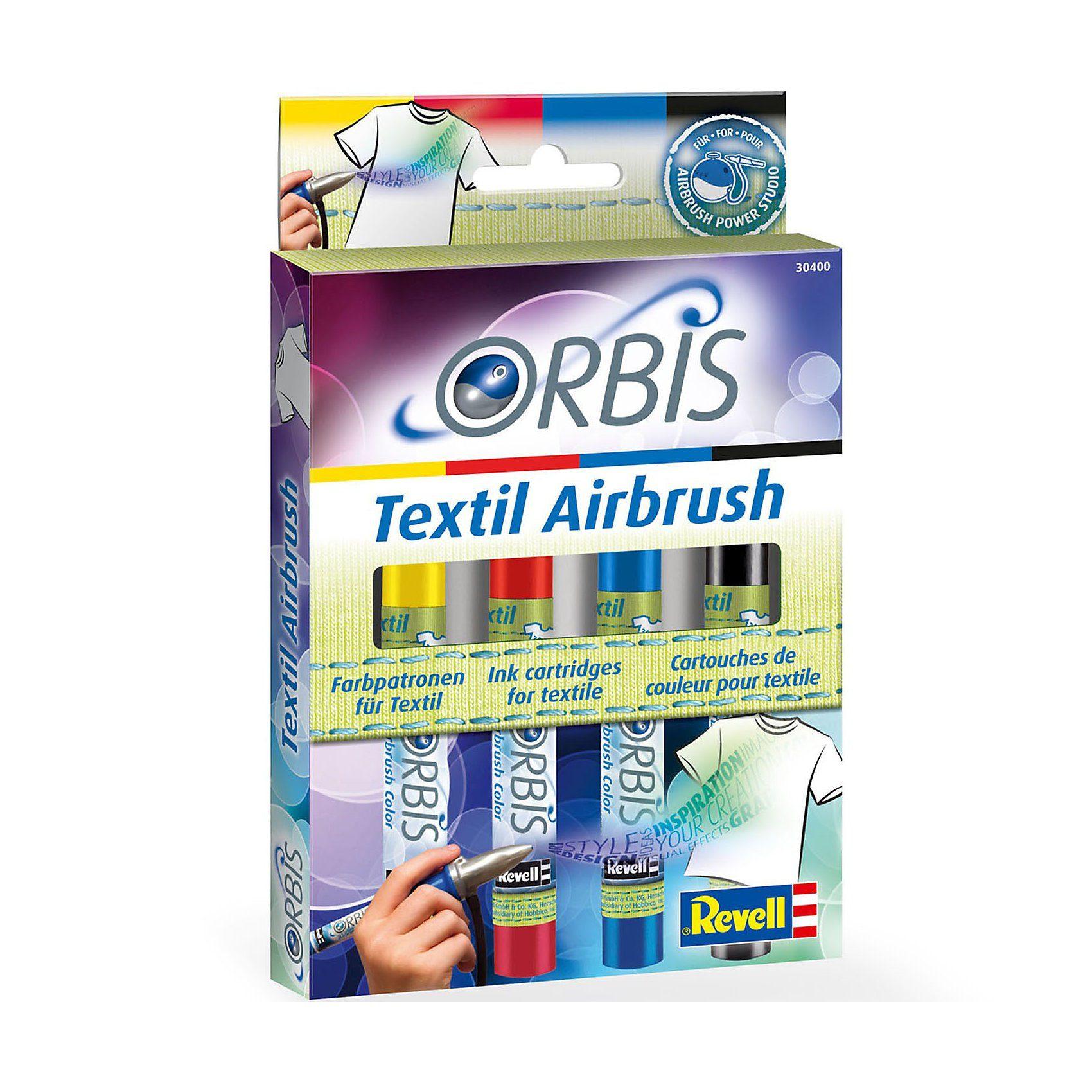 Revell Orbis 30400 Textil Airbrush Farbpatronenset A