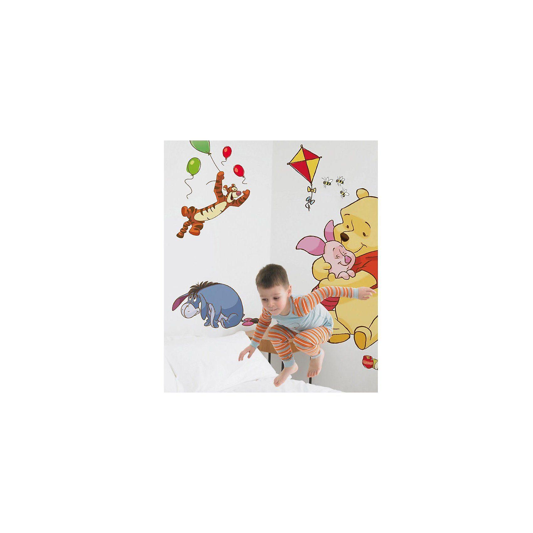 Decofun Wandsticker Winnie the Pooh, Bother Free Days, groß, 17-tlg.