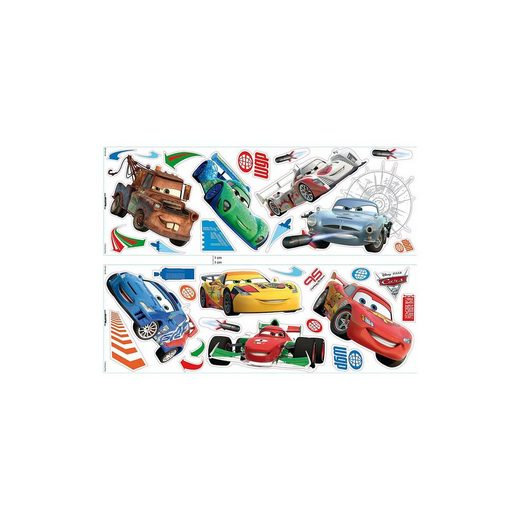 Decofun Wandsticker Cars 2, 32-tlg.