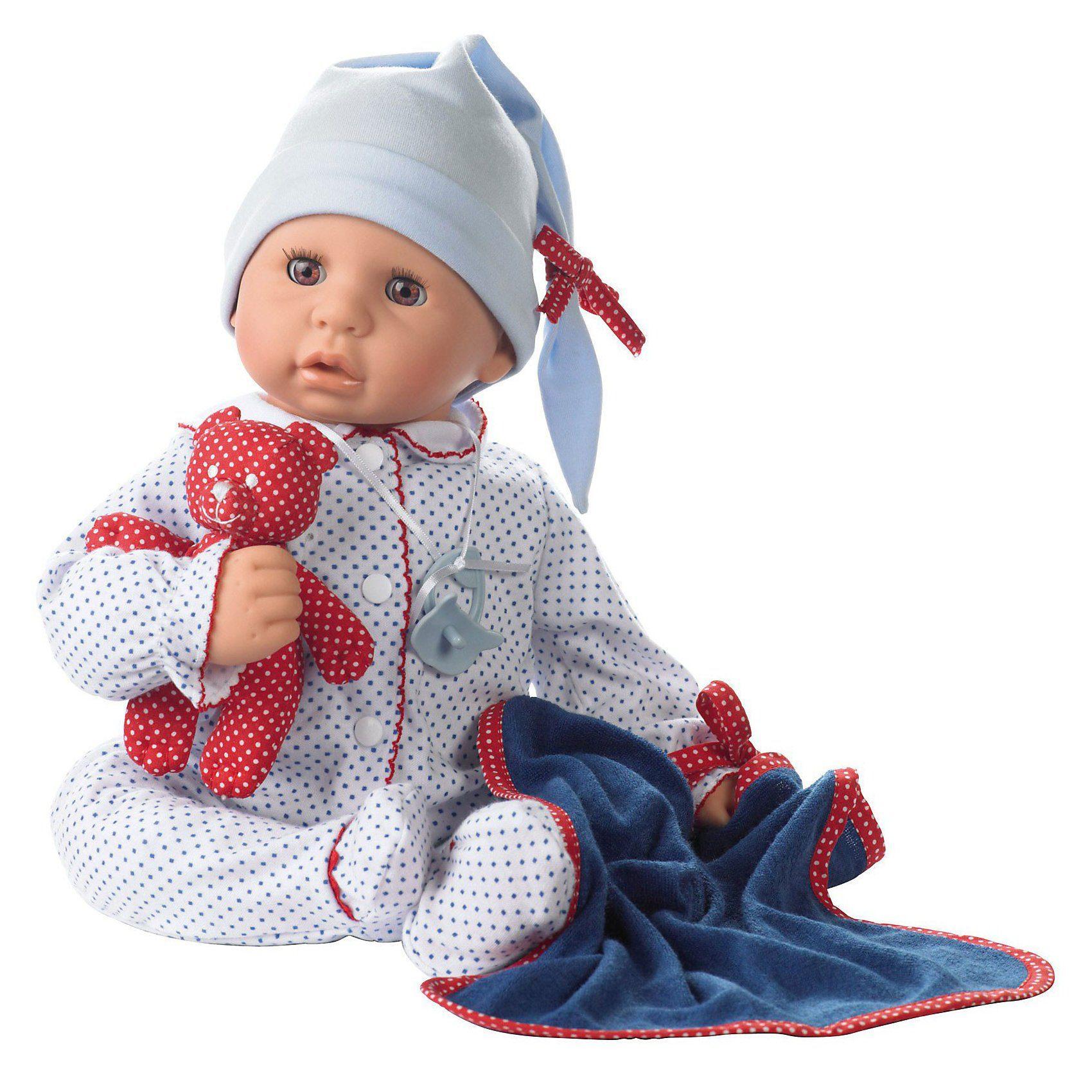 Götz Babypuppe Cookie blau mit Zubehör, 48 cm